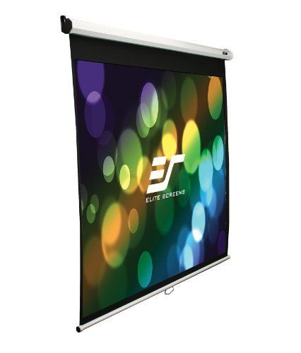 Elite Screens M120xwh2 E24 Manual Projection Screen 120 Inch 16 9 Ar 24 Inch Drop By Elite Scr Projection Screen Pull Down Projector Screen Projector Screen