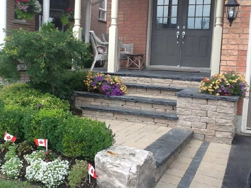 Landscape Construction And Design In The Durham Region Of Ontario Landscape Construction Landscape Plans Front Yard Landscaping