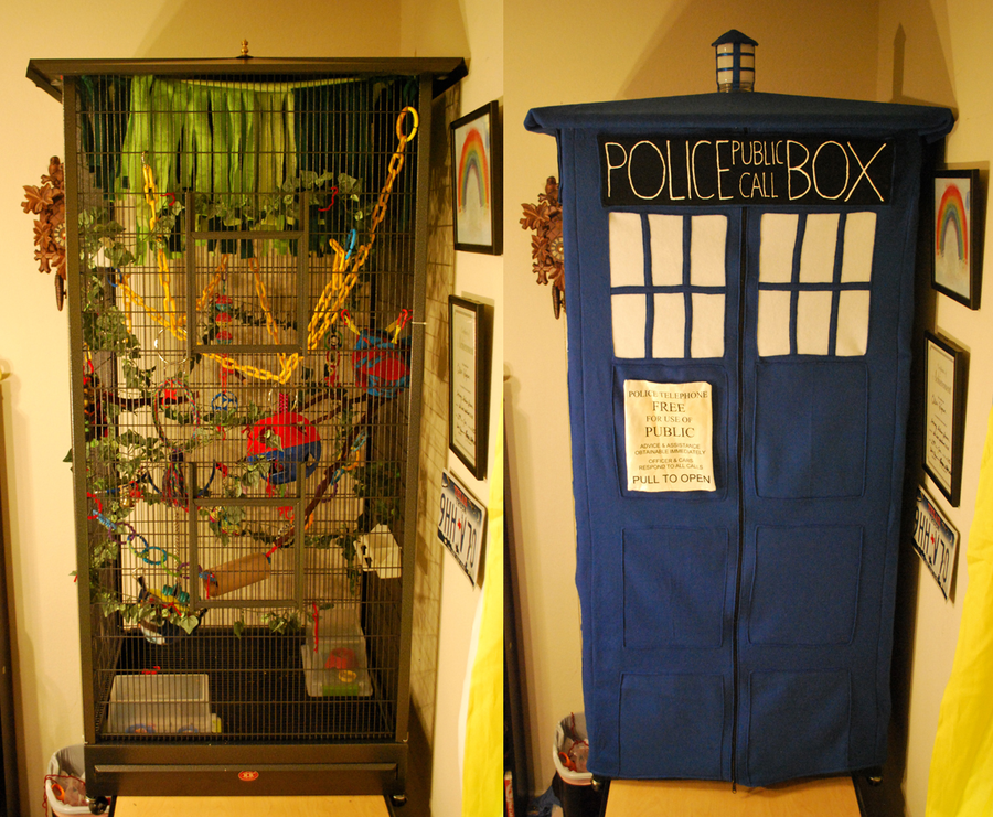 tardis sugar glider cage cover by on deviantart i