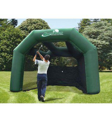 BOOM ROOM Inflatable Golf Hitting Cage | Backyard putting ...