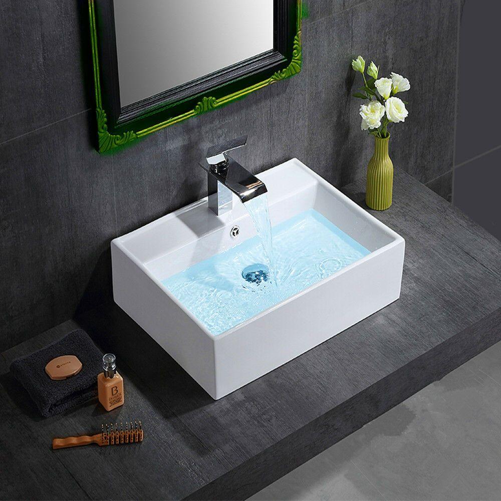 Counter Top Square Sink Ceramic Bowl