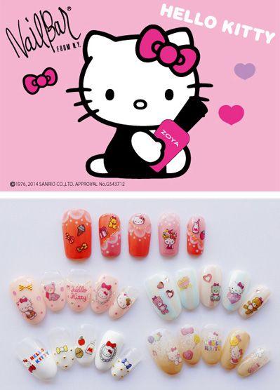 Hello Kitty Nail Looks from Zoya Nail Polish Japan