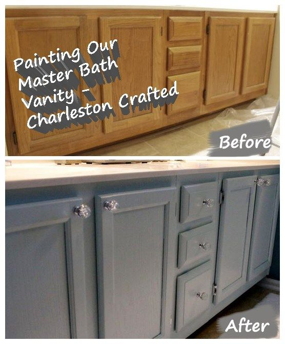 Painting Bathroom Oak Cabinets painting our bathroom vanity | oak cabinets, painting bathroom