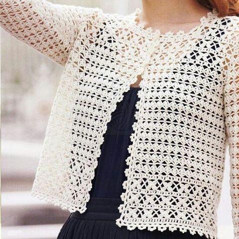 Crochet Wedding Women Summer Jacket Pattern Written In English