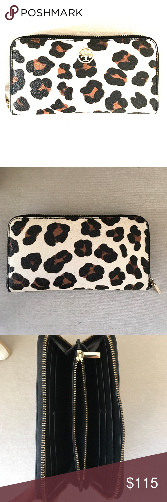 19181a7517dc ... store host pick tory burch wallet tory burch leopard print zip continental  wallet. leather.