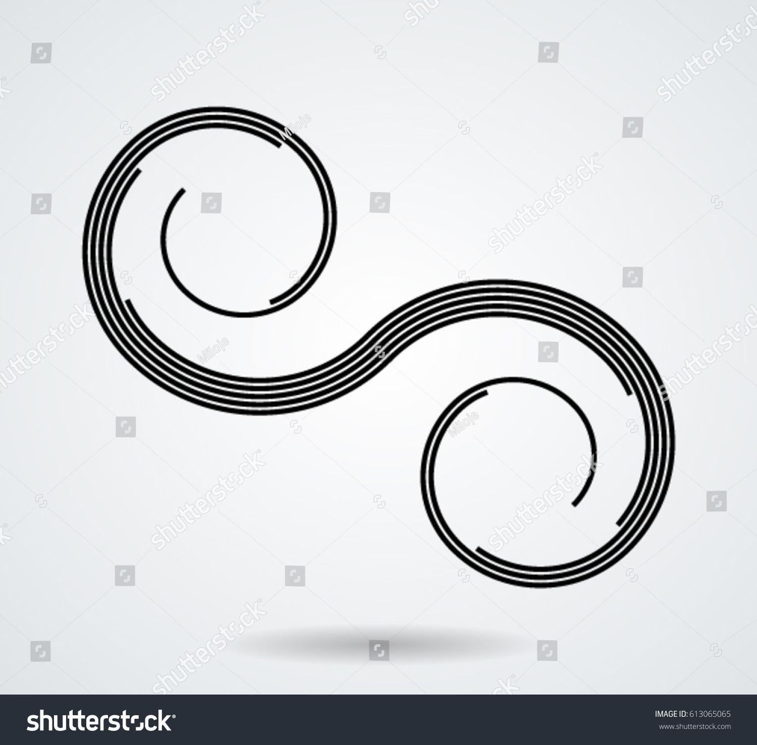 Vector Curved Lines Design Element Black Painted Stroke Used As Banner Template Logo Ad Aff Design El In 2020 Design Element Black Paint Stock Photos