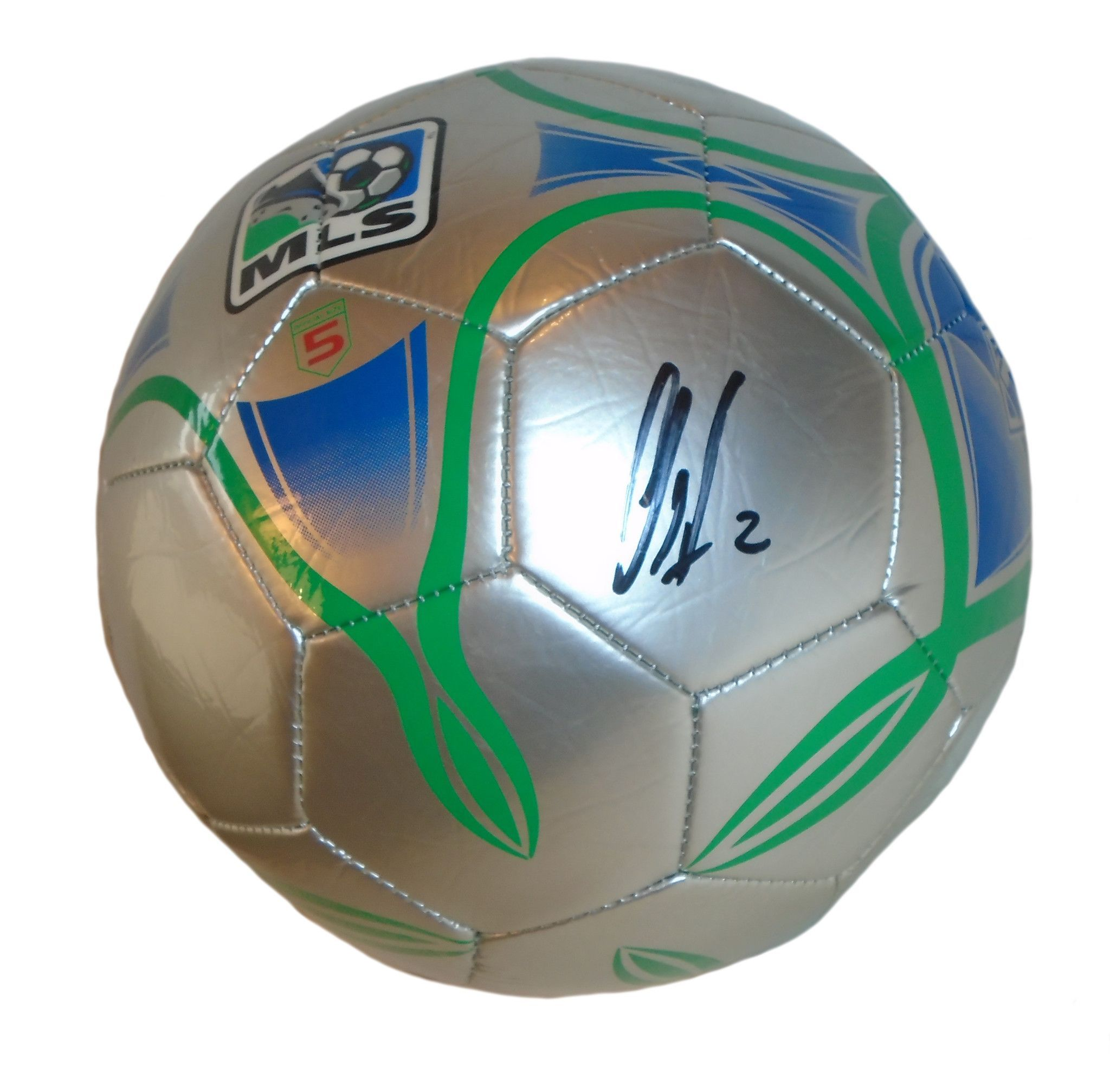 7553386a146 Clint Dempsey Autographed Franklin MLS Logo Silver Soccer Ball ...