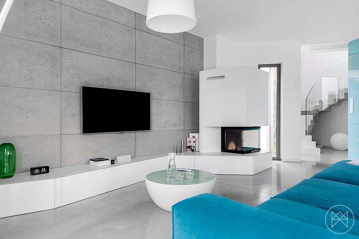 Weiße Einrichtungen, Architektur Innenarchitektur, Moderne Architektur,  Zeitgenössische Wohnzimmer, Blau Grau, Einrichten U0026 Wohnen, Studio, Aqua,  ...
