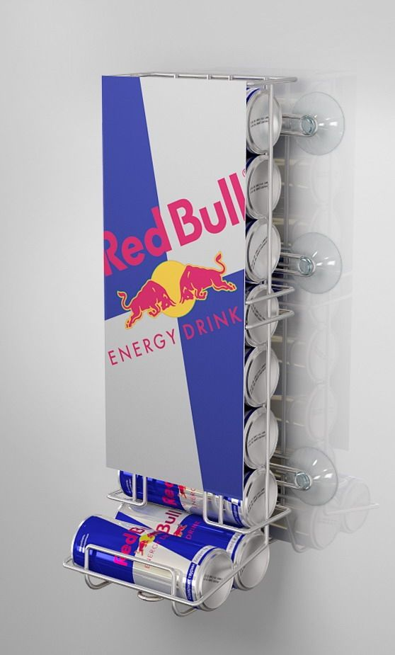 Suction Cup Sign Holder Red Bull