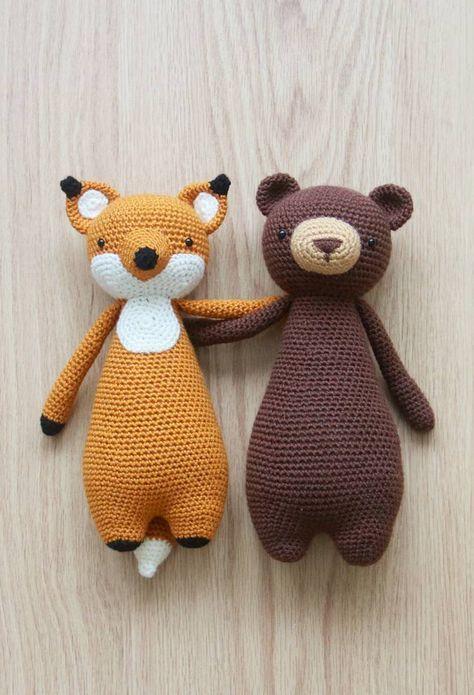 Oso/zorro | Crochet | Pinterest | Osos, Tejido y Patrones amigurumi