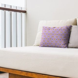 Shiba Inu Pattern Outdoor Lumbar Pillow (Lavender - N/A), Purple(Synthetic Fiber, Animal)