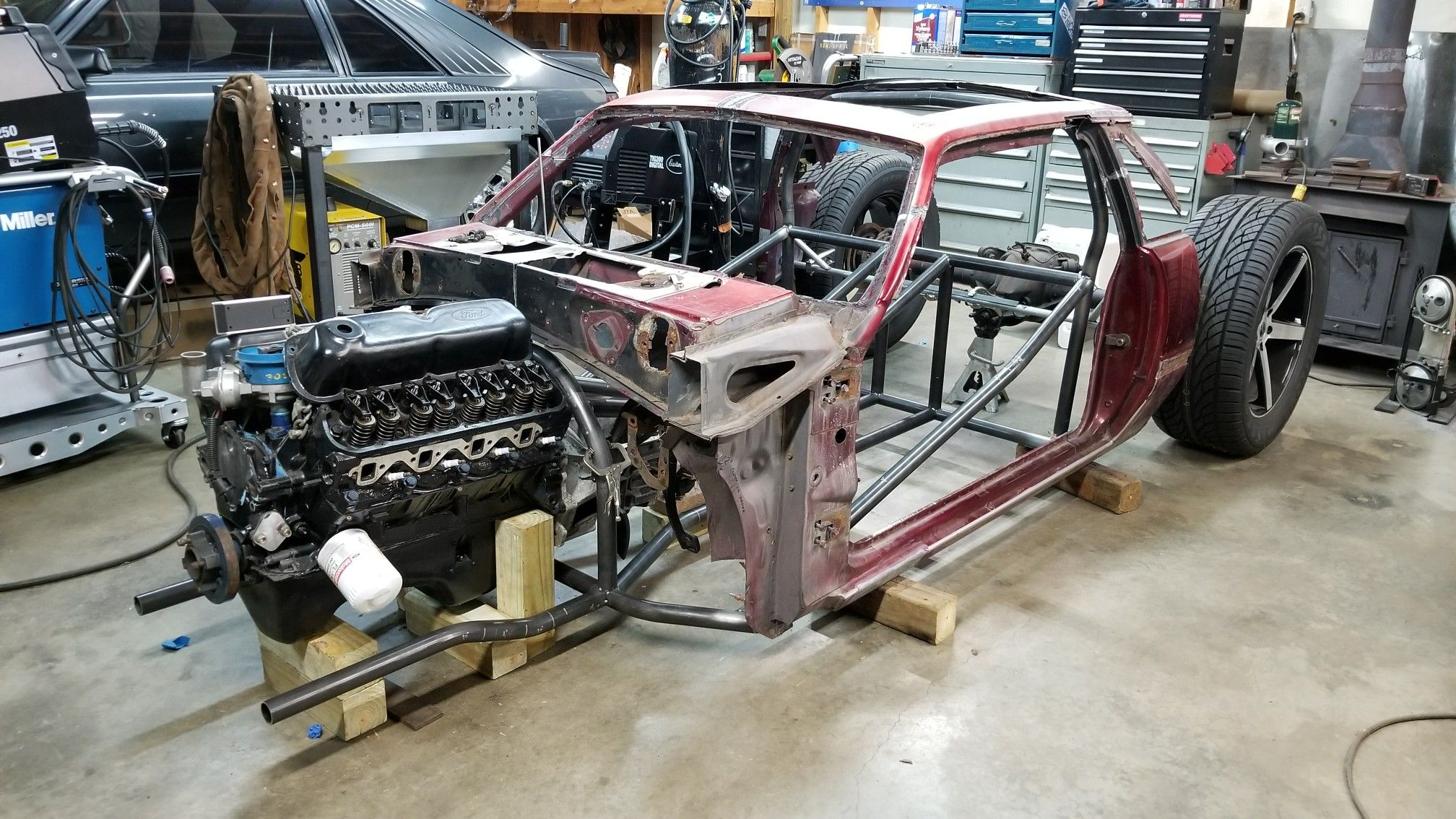 mustang foxbody hot rod build bibbster complete build can be seen on the fab forums youtube channel  [ 2016 x 1134 Pixel ]