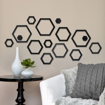 Rowhouse 15-pc. Shanna Hexagons Wall Decor Set | interior designs ...