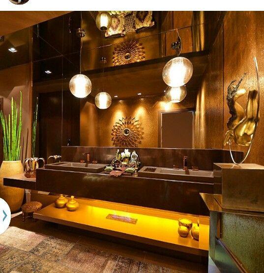 Baño lujoso en tonos marrones cosa mias y par mi casa Pinterest - baos lujosos