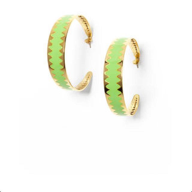 Adia Kibur Green/Gold earrings