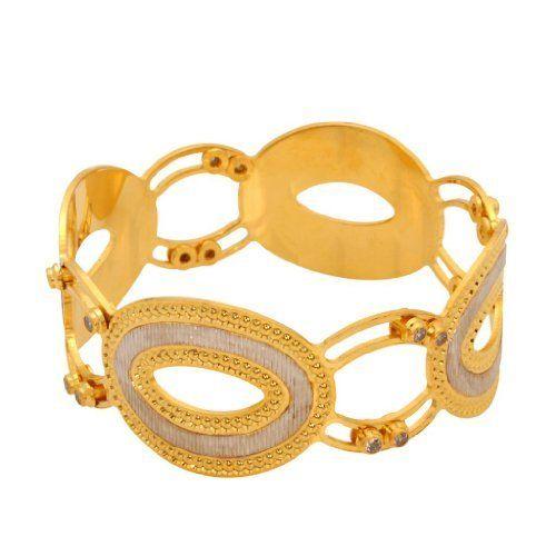Vendee Fashion Hot Fashion Bangle Two Tone (Gold & Silver) Brass For Women (7509 ) by Vendee Fashion, http://www.amazon.in/dp/B00EUAV53W/ref=cm_sw_r_pi_dp_YO1Nsb0METJBS