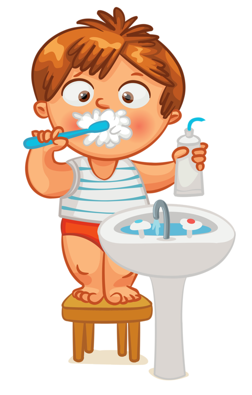 Clip art - Kid - Brush Teeth | Clock Time | Pinterest ...