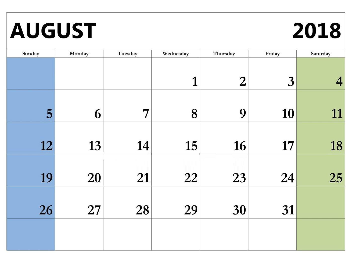 Printable august 2018 word calendar template maxcalendars printable august 2018 word calendar template maxwellsz