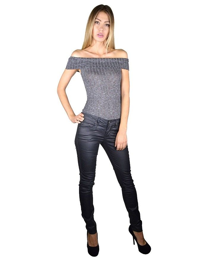 f57c02b1c034b Textured Slim Fit Off Shoulder Top Is Just  7.99  affordable plus size  clothing