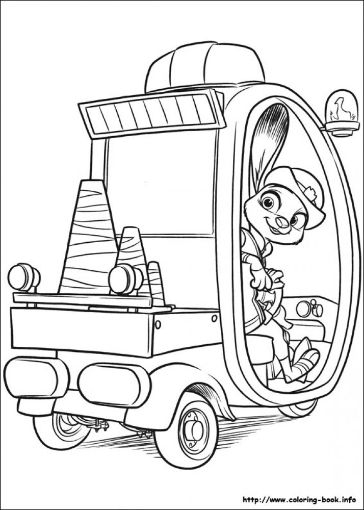 Office Hopps the meter maid Difficult Disney Zootopia coloring pages - new online coloring pages for cars