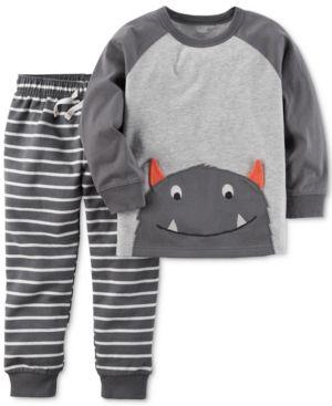783378341 Carter s 2-Pc. Cotton Monster T-Shirt   Jogger Pants Set