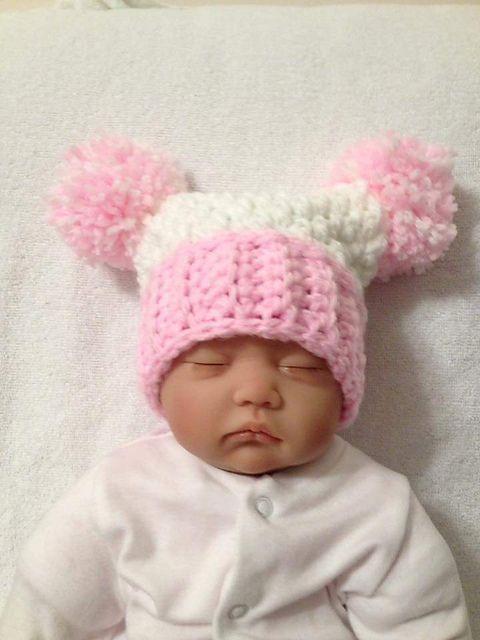 Chunky double Pom Pom hat | Crochet for baby/kids | Pinterest
