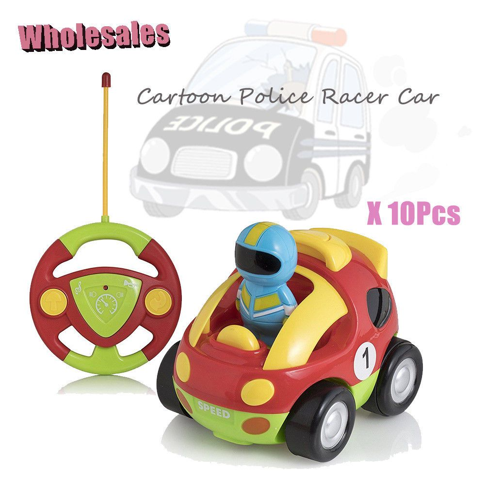 Toys car for baby  Pcs Wholesale Children Cartoon Racer Car Remote Control Cars Baby