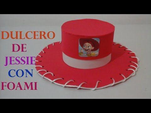 COMO HACER DULCERO DE JESSIE DE TOY STORY CON FOAMI - YouTube