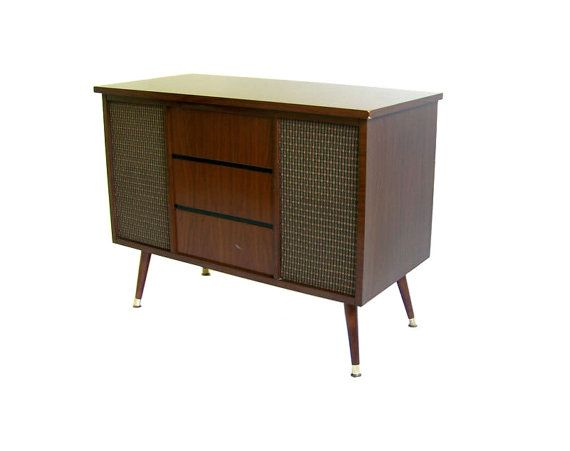 Vintage Mid Century Stereo Console Westinghouse Am Fm Radio Turntable Stand Record Player Mid