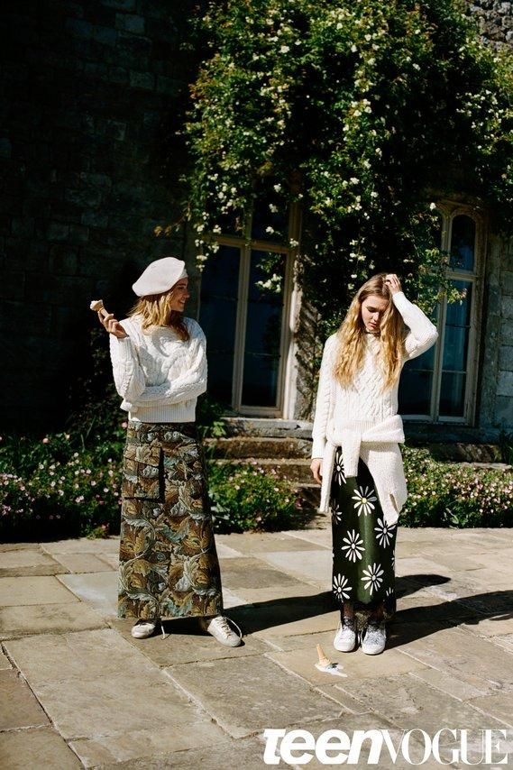 Step inside Suki and Immy Waterhouse's September fall fashion photoshoot—these sisters are the coolest and chicest.