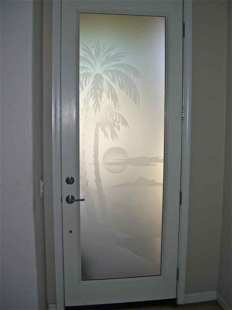 Etched glass door frosted decorative doog glass designs for Fancy glass door designs