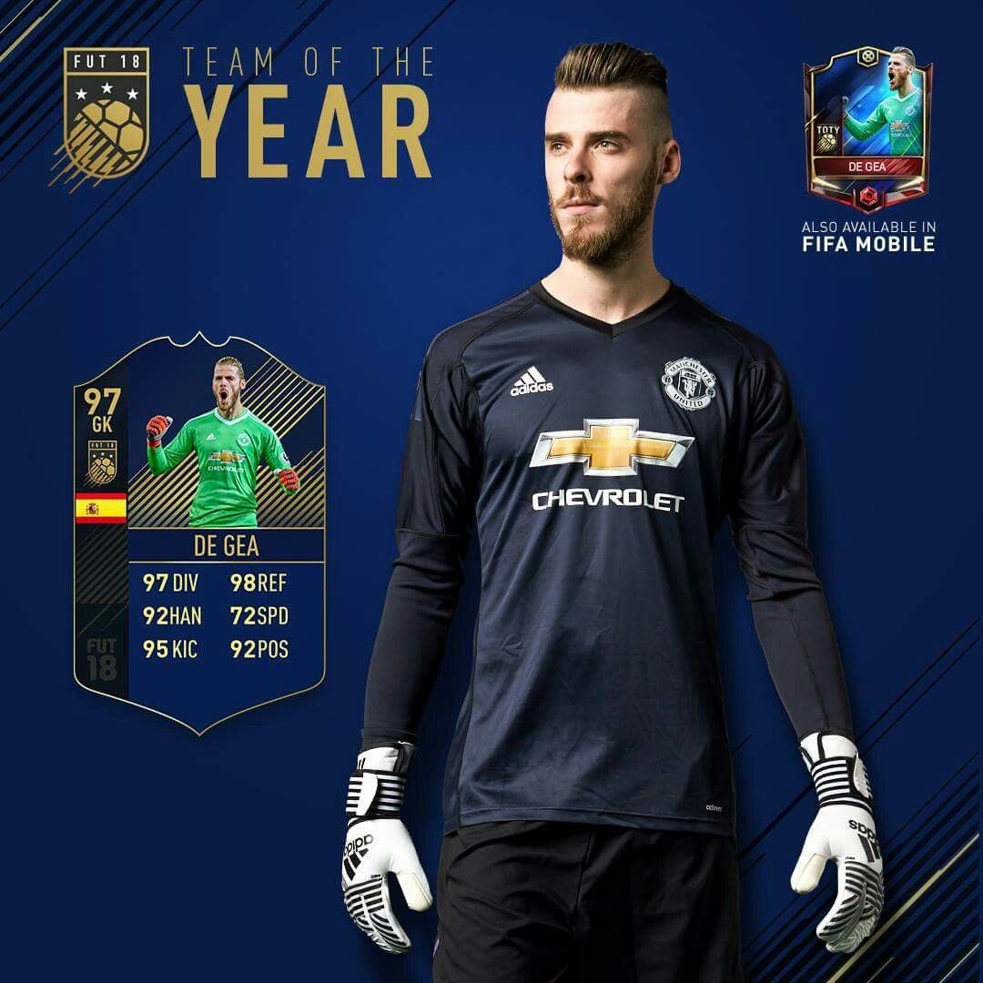 David De Gea Voted In To EA Sports & FIFA Team Of The Year