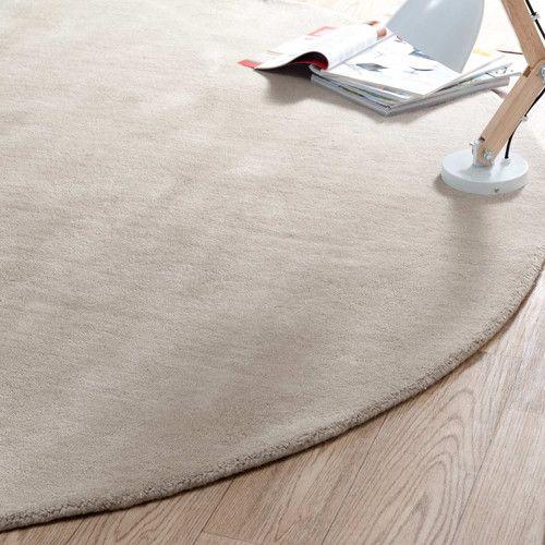 Tappeto rotondo Soft beige 200 cm diametro Tappeti