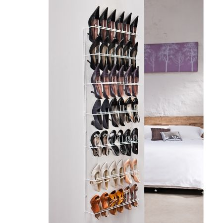For Shoes And Bags // Howards Storage World | White 21 Pair Shoe Rack $64.95