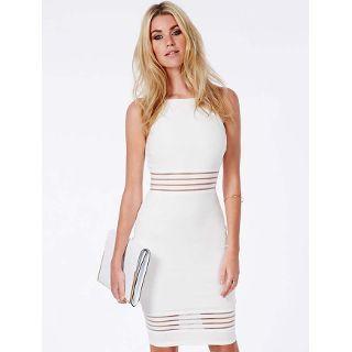 Virtual Beyaz Sik Abiye Kalem Elbise Bodycon Elbise The Dress Moda Stilleri