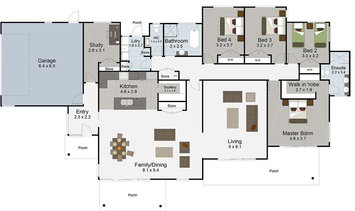 Icymi bedroom house floor plans australia also rh in pinterest