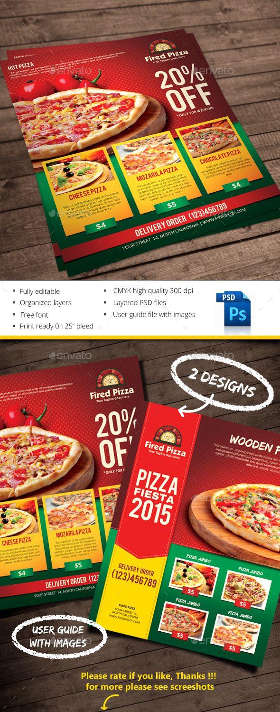 Pizza   Artes visuales, Publicitaria y Volantes
