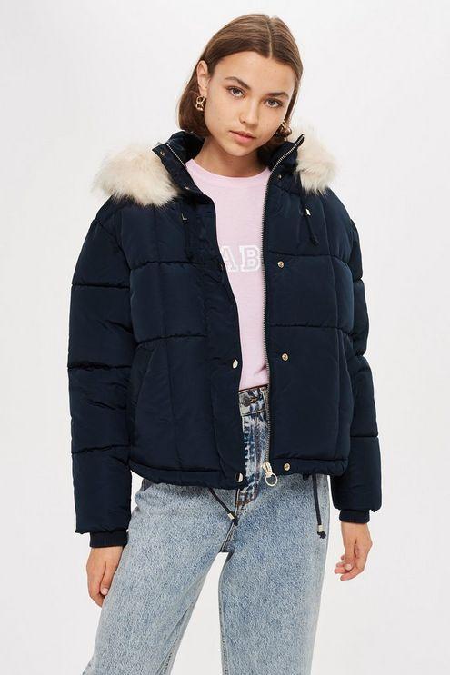 Petite Black Puffer Jacket
