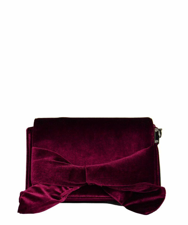 Γυναικεία τετράγωνη Velvet τσάντα μπορντό φιόγκος A9257G  γυναικείεςτσάντες   σακίδια  μόδα  τσάντα   75870073b60