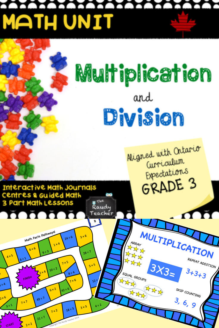 Grade 3 Multiplication and Division Unit Based On Ontario Curriculum    Guided math lessons [ 1102 x 735 Pixel ]