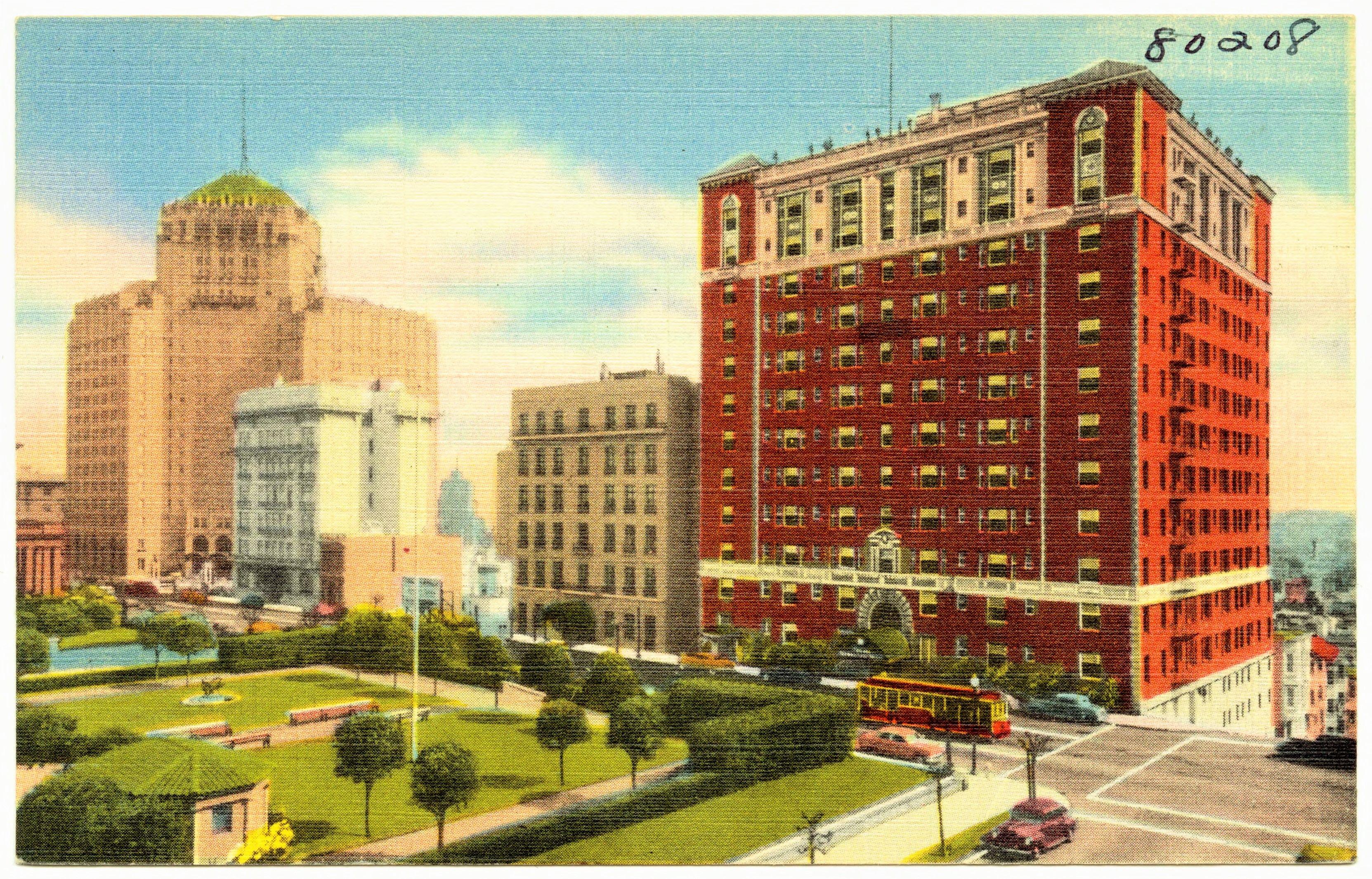 The Huntington Hotel San Francisco postcard The