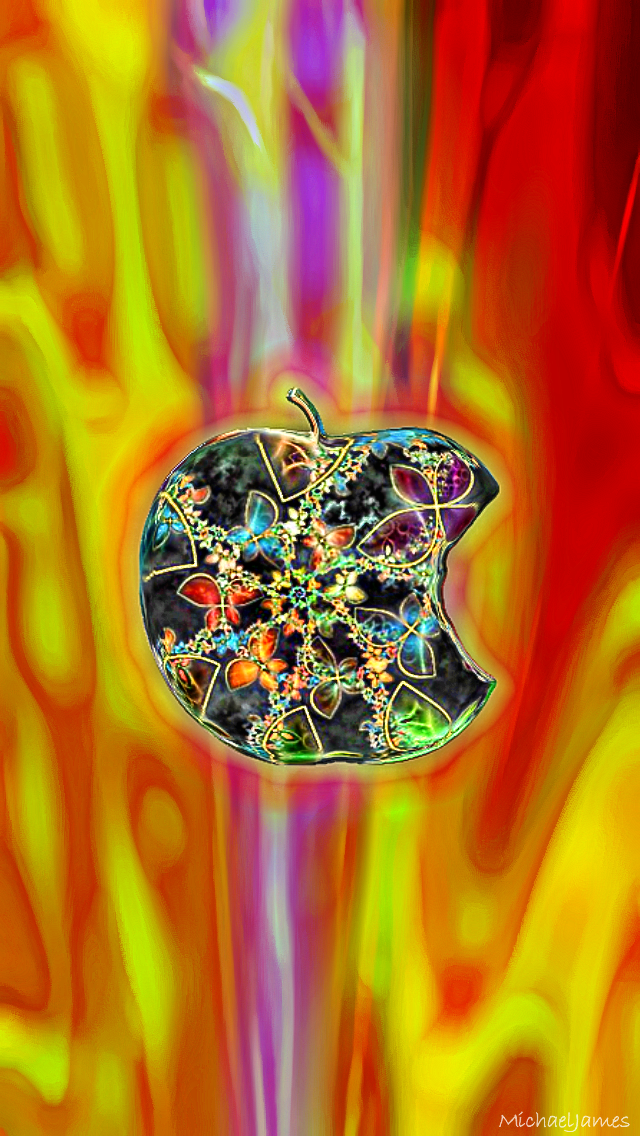 Jeweled Red Apple 640 x 1136 Wallpapers available for free