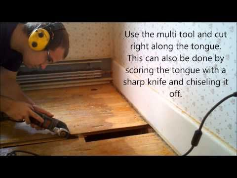 How To Replace Hardwood Floor Boards In A Tongue And Groove Floor