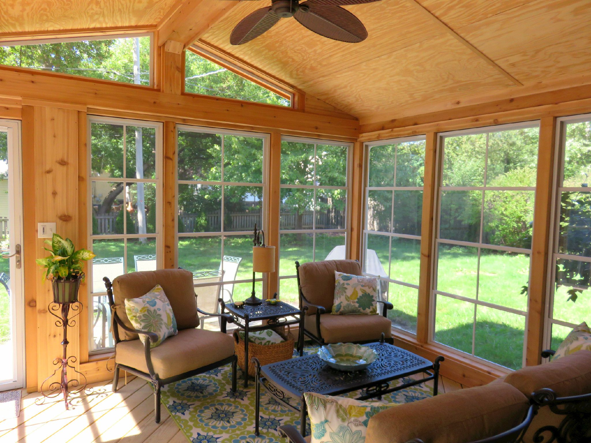 Screen Porch With Eze Breeze Windows By Arlington Heights