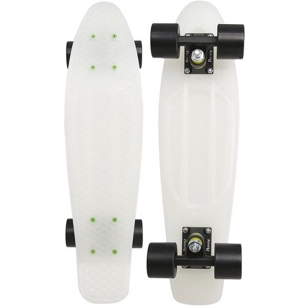 Penny The Penny Classic (Glow-In-The-Dark 2013) Skateboards Sports... ($60) ❤ liked on Polyvore featuring white