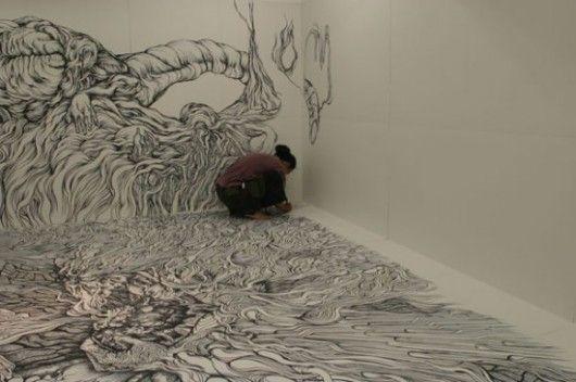 Los increíbles murales de Yosuke Goda!!