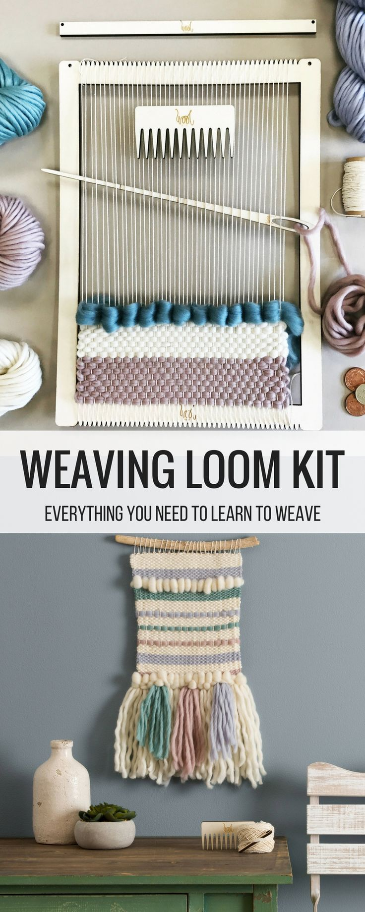 Weaving Loom Kit   Perfect For Beginners! Large Lap Loom. Learn To Frame  Weave