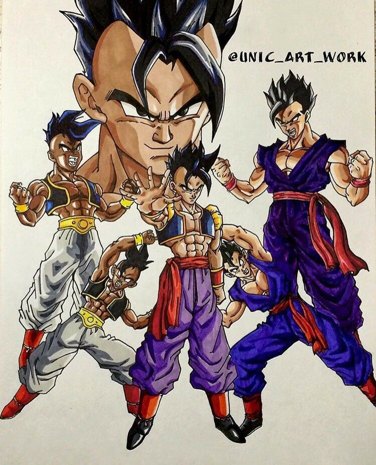 Uub And Gohan Fusion!?? I Like This! #Art By:Unic_Art_Work