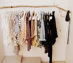 clothes rack tumblr - Google Search | Future bedroom goals ...