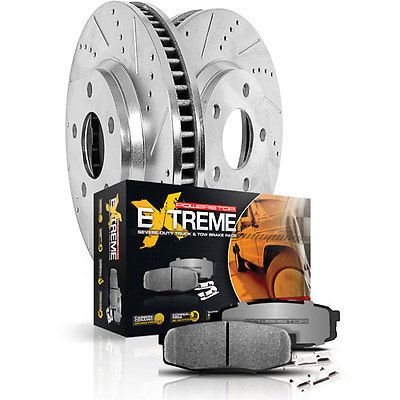 Severe-Duty Pads With Drilled and Slotted Rotors Power Stop K6803-36 Z36 Truck and Tow Brake Kit
